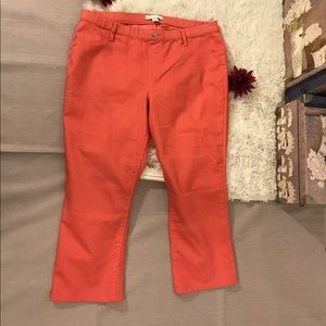🦋NEW YORK & COMPANY STRETCH JEGGINGS PANTS CORAL